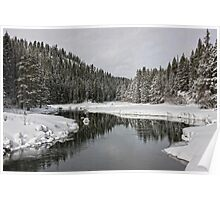Winter River - Lake Tahoe Poster