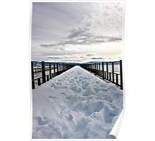 Ice Deck - Lake Tahoe, California Poster