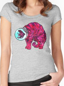 CATFISHTRONAUT (magenta) Women's Fitted Scoop T-Shirt