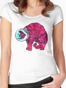 CATFISHTRONAUT (magenta) Women's Fitted Scoop T-Shirt