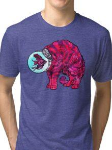 CATFISHTRONAUT (magenta) Tri-blend T-Shirt