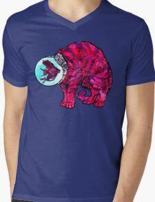 CATFISHTRONAUT (magenta) Mens V-Neck T-Shirt