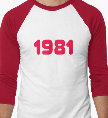 1981 - Born in the eighties - T-shirt Sweater & Top Men's Baseball ¾ T-Shirt