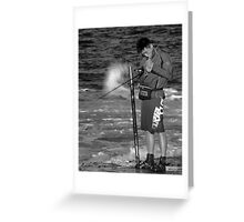 The Smokin Fisherman Greeting Card