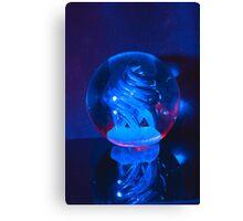 BLUE GLASS BALL Canvas Print