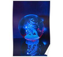 BLUE GLASS BALL Poster