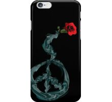 Peace and rose iPhone Case/Skin