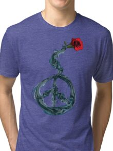 Peace and rose Tri-blend T-Shirt