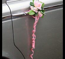 Wedding flowers on car door by amylw1
