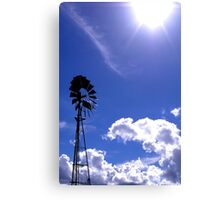 The sun and the wind Canvas Print