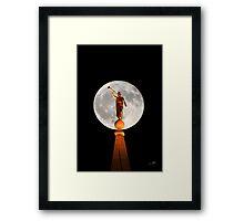 Angel Moroni in the Moon 20x30 Framed Print