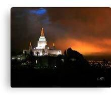 Oakland Temple at Sunset 20x24 Canvas Print