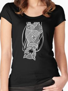 Bat Zentangle Women's Fitted Scoop T-Shirt