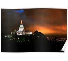 Oakland Temple at Sunset 20x30 Poster