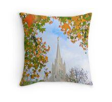 San Diego Temple in Autumn 20x30 Throw Pillow