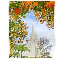San Diego Temple in Autumn 20x24 Poster