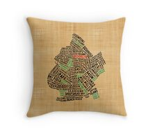 Brooklyn New York Typography Map Throw Pillow
