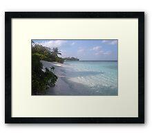 On the Maldives beach Framed Print