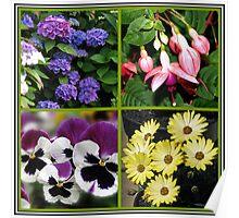 Summer Nostalgia - Floral Collage Poster