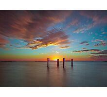 Wynnum Dawning - Wynnum Qld Australia Photographic Print