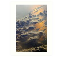 Earth and skies with clouds and water reflections Art Print