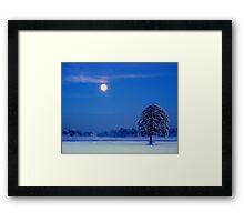 """""""MOON OVER THE OAK"""" Framed Print"""