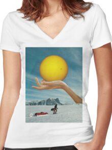 Sunspot Women's Fitted V-Neck T-Shirt