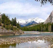 Bow River, Banff , Alberta Canada by Ali Brown