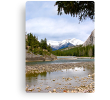 Bow River, Banff , Alberta Canada Canvas Print