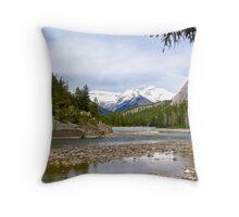 Bow River, Banff , Alberta Canada Throw Pillow