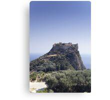 Angelokastro castle ruin - Corfou, Greece Canvas Print