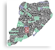 Staten Island Typographic Map Canvas Print