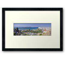 Panoramic view of Kerkyra - capital city of Corfou Framed Print