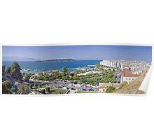 Panoramic view of Kerkyra - capital city of Corfou Poster