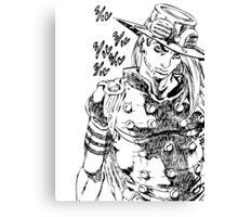 Jojo - Gyro Zeppeli (Black) Canvas Print