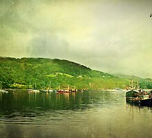 Harbour Life, Ullapool In Scotland. by Aj Finan