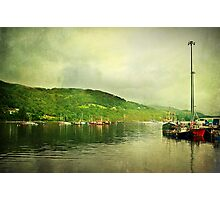 Harbour Life, Ullapool In Scotland. Photographic Print