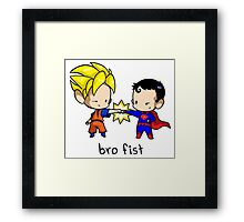 Goku Bro Fists Superman Framed Print