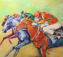 Racing Colours V by christine purtle