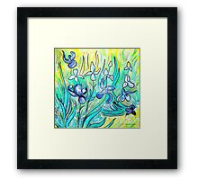 Irises - My Hommage to Vincent Van Gogh Framed Print