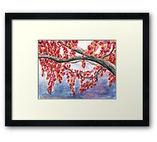 Autumnal Explosion in Red Framed Print