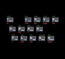 ZX Spectrum - I Love Dead Flesh by SugMonKooky