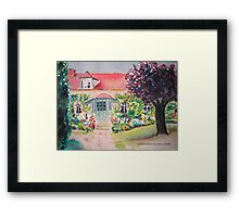 Garden in Giverny, France Framed Print