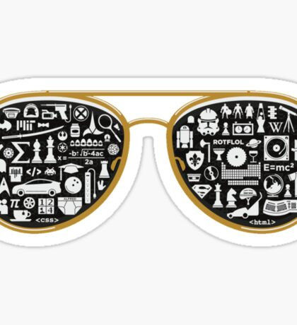 Retro Glasses - Star Wars - Kill Bill - Movies Sticker