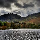 Haystacks and Seat from Buttermere, Cumbria, England by Bob Culshaw