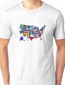 USA State Flags Map Mosaic Unisex T-Shirt
