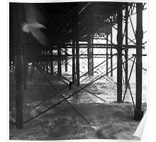 Flight under the pier Poster