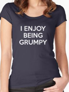 I Enjoy Being Grumpy Women's Fitted Scoop T-Shirt