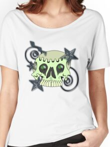 Skull with spirals & stars Women's Relaxed Fit T-Shirt