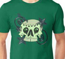 Skull with spirals & stars Unisex T-Shirt